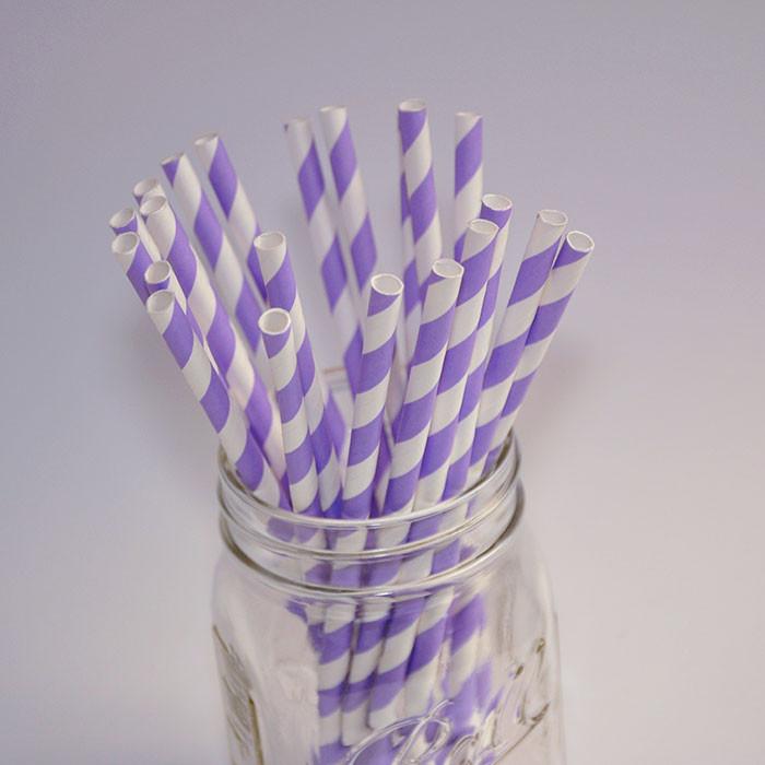 Pailles en papier - Couleur Lavande