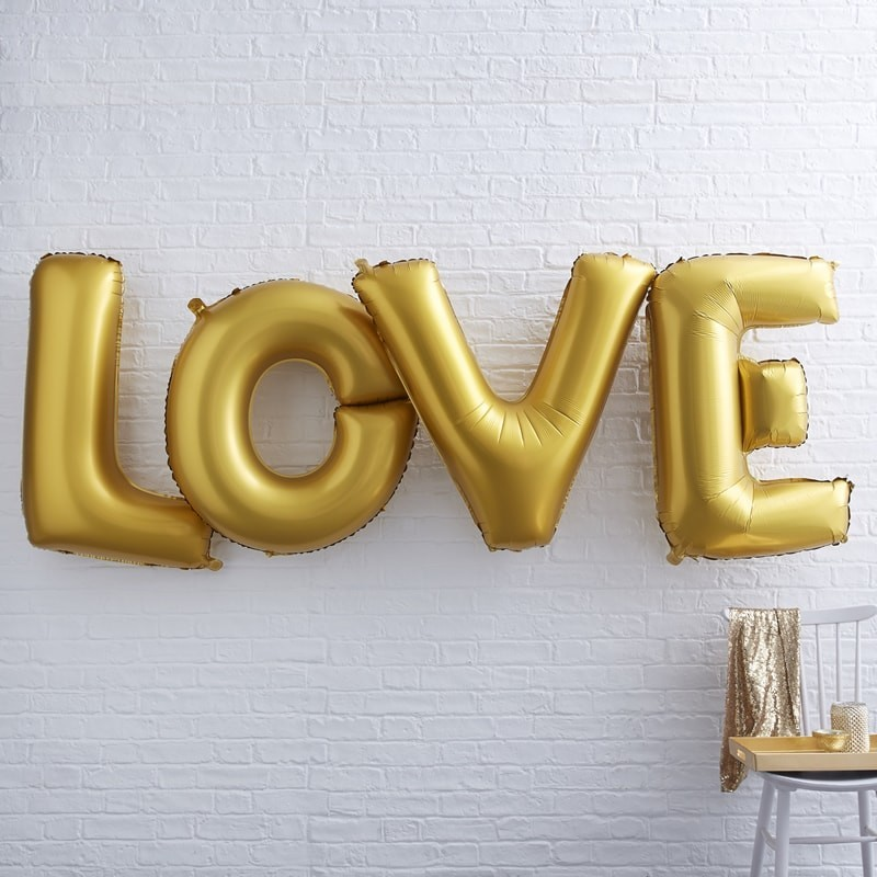 Ballon LOVE géant doré