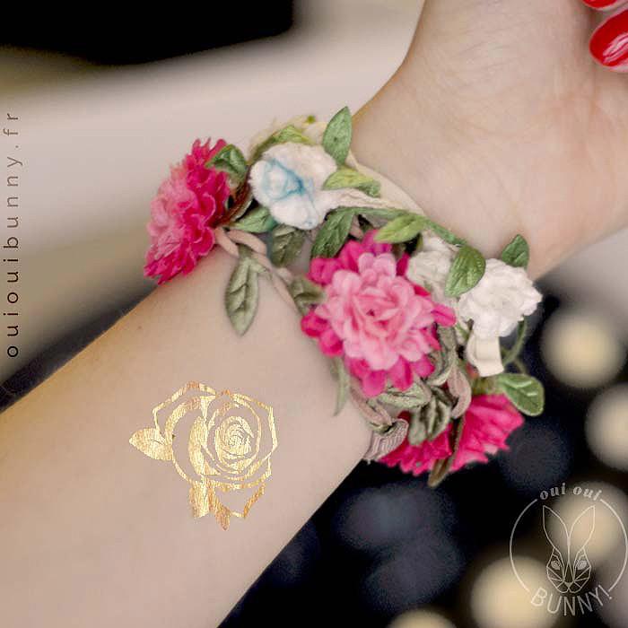 Tatouage éphémère Rose sur poignet