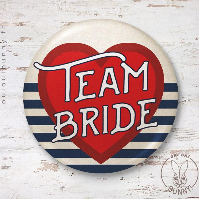 Badge Marin Team Bride