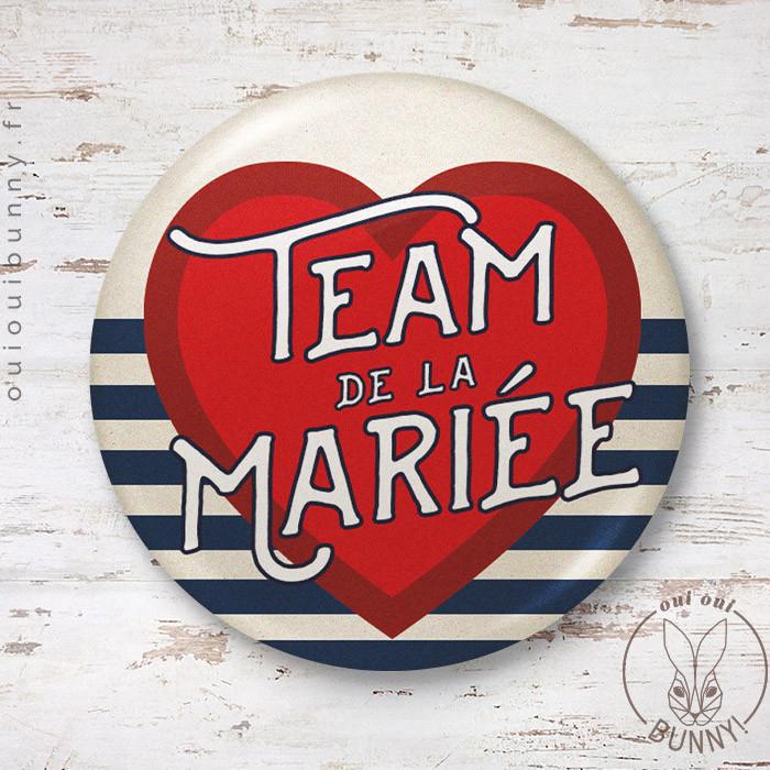 Badge Marin Team de la Mariée