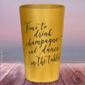 """Gobelets personnalisés """"Time to Drink Champagne"""" Dorés"""