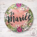 Badge Fleuri La Mariée
