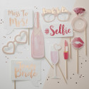 Kit Photobooth Team Bride 10 accessoires