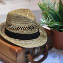 Chapeau San Remo avec bandeau Noir