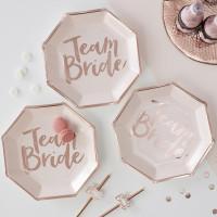 Assiettes Team Bride - lot de 8
