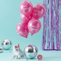 Ballons Girl Gang Roses - lot de 10
