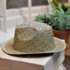 Chapeau en paille naturelle, modèle Capri, pour mariage, EVG ou EVJF