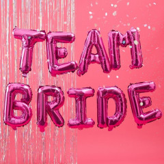 Ballons Team Bride en mylar avec ficelle