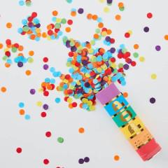 Canon à confettis Multicolores