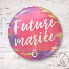 Badge aquarelle sunset Future Mariée
