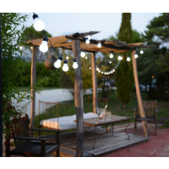 Guirlande lumineuse 15 LED blanc froid prolongeable sur six guirlandes maximum, utilisation Intérieur et Extérieur