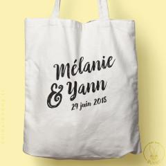 Tote-bag personnalisable coup de Pinceau pour mariage