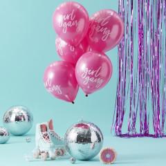 Ballons Girl Gang Roses en latex pour Enterrement de Vie de Jeune Fille (Hen Party Girl Gang balloons)