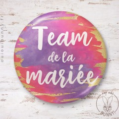 Badge aquarelle sunset Team de la Mariée