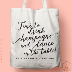 "Tote-Bag ""Time to Drink Champagne"" classique"