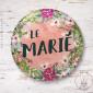 Badge Fleuri Le Marié