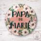Badge Fleuri Papa du Marié