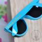 Lunettes de soleil Team de la Mariée Turquoise, inscription Or